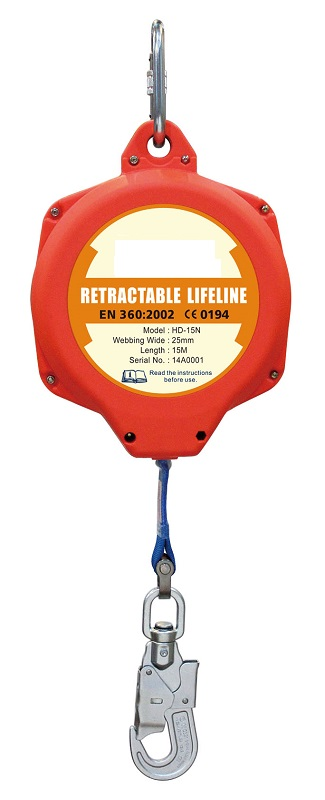 Fall Protection Self Retractable Fall Arrester & Emergency Absorbe Retractable Lifeline(HD-15N(3))